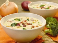 Broccoli Bacon and Cheddar Chowder