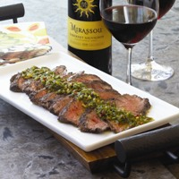 Spiced Hanger Steak with Basil Chimichurri