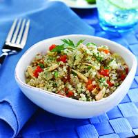 Quinoa Pilaf with Almonds and Apricots