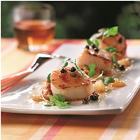 Callos de Hacha Maple Deglazed Scallops and Butternut Squash Puree