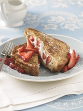 Strawberry Ricotta Stuffed Whole Grain French Toast