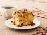 Apple Cranberry Bread Pudding