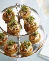 Smoked Salmon Mousse with Walnut Salsa Verde